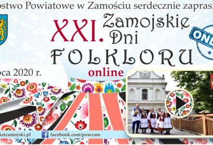 XXI Festiwal Zamojskich Dni Folkloru ONLINE, który odbędzie się 12 lipca 2020 roku. Zapowiedź wideo
