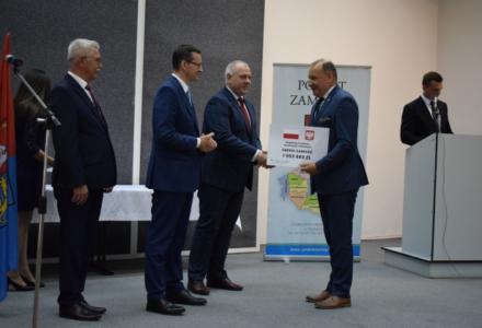 Premier Mateusz Morawiecki spotkał się z samorządowcami z Powiatu Zamojskiego