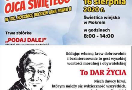 """Gmina Zamość. Już jutro kolejna  zbiórka krwi pod nazwą """"ŚLADAMI NAUK OJCA ŚWIĘTEGO"""