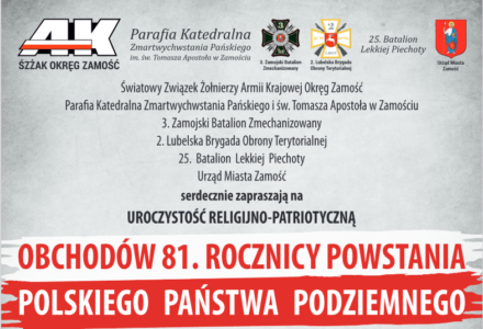 Obchody 81. rocznicy Polskiego Państwa Podziemnego, 27 września 2020 r.