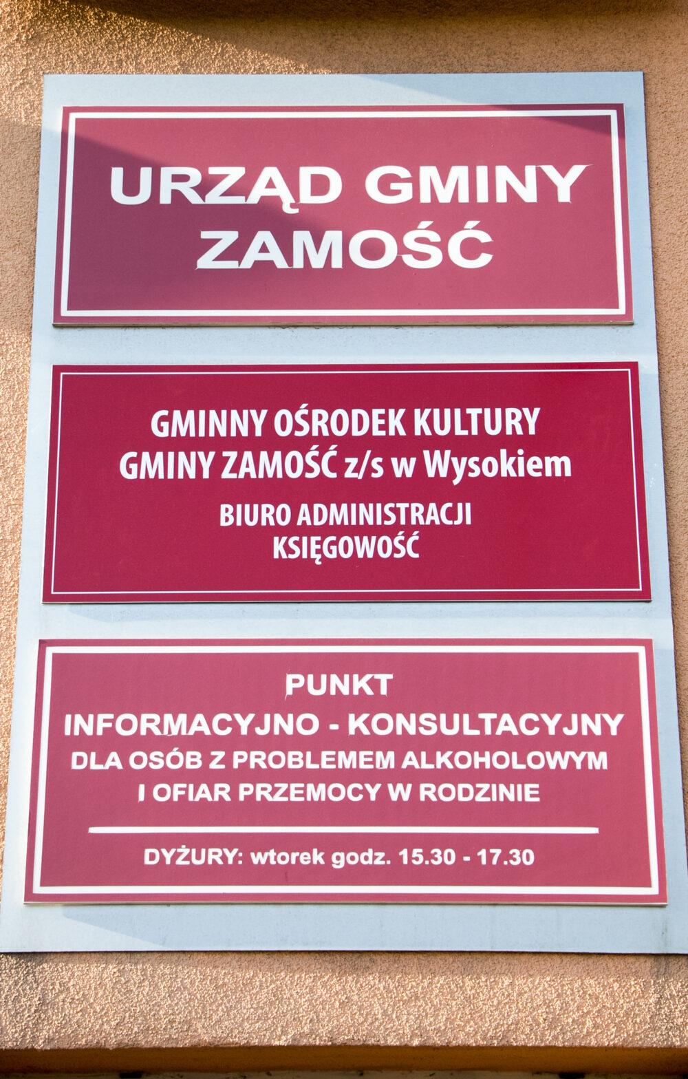 Urząd Gminy Zamość  zamknięty dla interesantów od 21.10.2020 r.