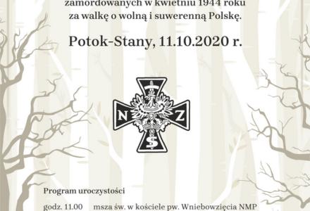 Uroczystości odsłonięcia pomnika w Potoku-Stany -11.10.2020 r.