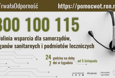 800 100 115: infolinia wsparcia ośrodków pomocy społecznej i organizacji pozarządowych