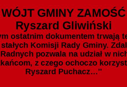 Długie i koszmarne jesienne wieczory Wójta Ryszarda Gliwińskiego