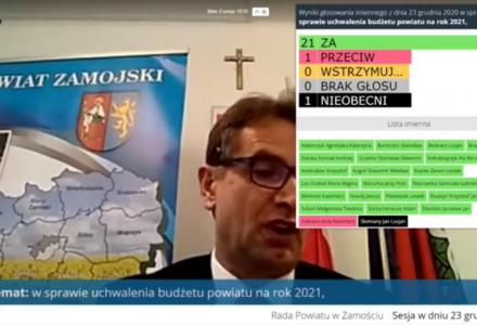 XVII Sesja Radnych Powiatu w Zamościu VI kadencji. Powiat Zamojski z budżetem
