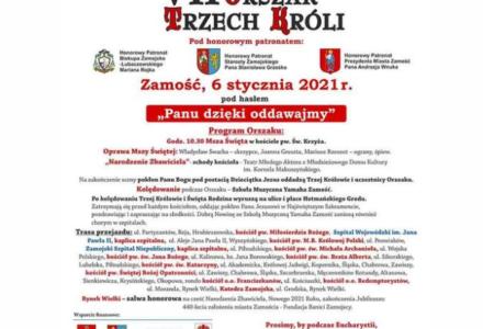 Jutro w Zamościu Orszak Trzech Króli. Słowo Biskupa Zamojsko-Lubaczowskiego Mariana Rojka