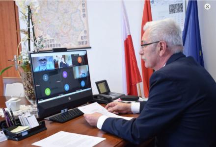 Wideokonferencja Starosty Powiatu Zamojskiego