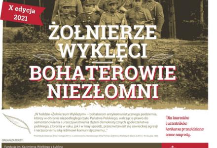 """X edycja Ogólnopolskiego Konkursu """"Żołnierze Wyklęci – Bohaterowie Niezłomni"""""""