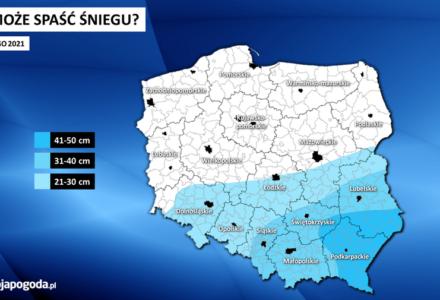 W części Polski w ciągu 2 dni może spaść nawet pół metra śniegu