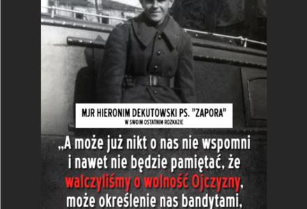 """72. lata temu zginął Hieronim Dekutowski """"Zapora"""""""