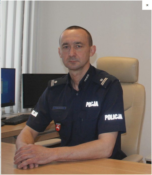 Podinspektor Tomasz Halinowski nowym zastępcą komendanta miejskiego Policji w Zamościu