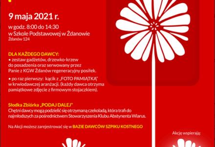 Wiosenna akcja poboru krwi w Żdanowie