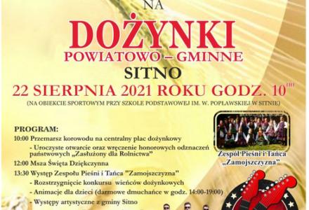 Dożynki powiatowo-gminne w Sitnie