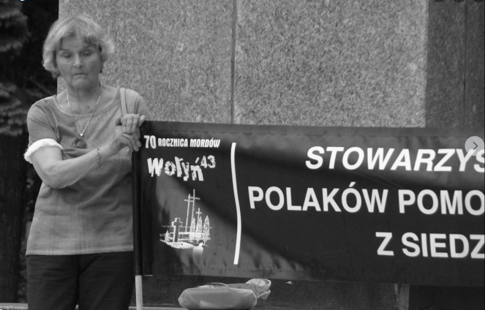 Zmarła przewodnicząca Stowarzyszenia Upamiętniania Polaków Pomordowanych na Wołyniu z siedzibą w Zamościu