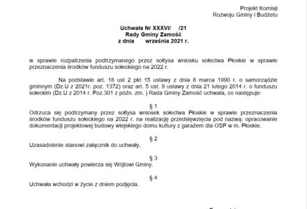 List Mieszkańca Płoskiego do naszej redakcji i do przedstawicieli gminnego samorządu